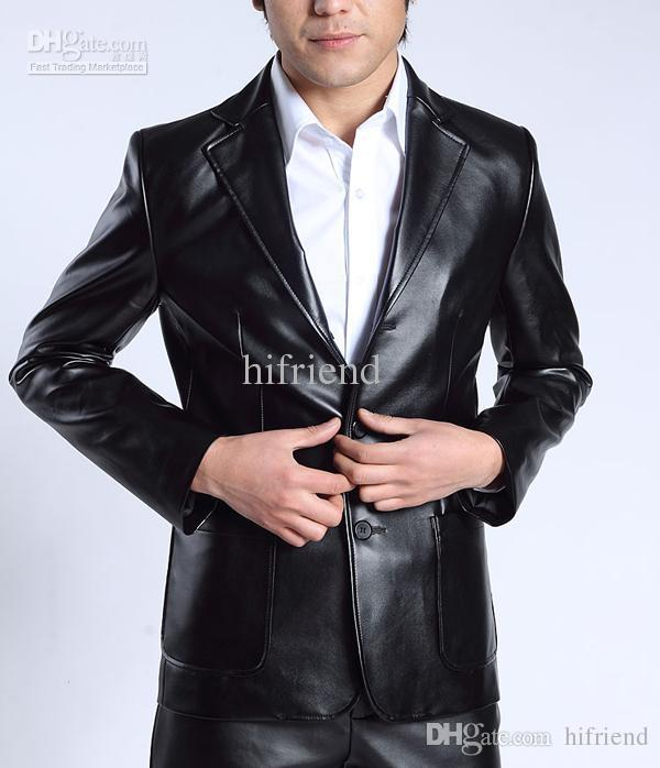 Best Quality Hot Men'S Suits Jacket Pants Leather Suits Men'S ...