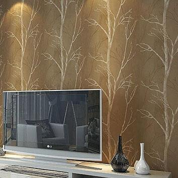 10m roll natural design tree forest textured wallpaper wallcovering woods wall paper background wall home decor for living room - Textured Wall Designs