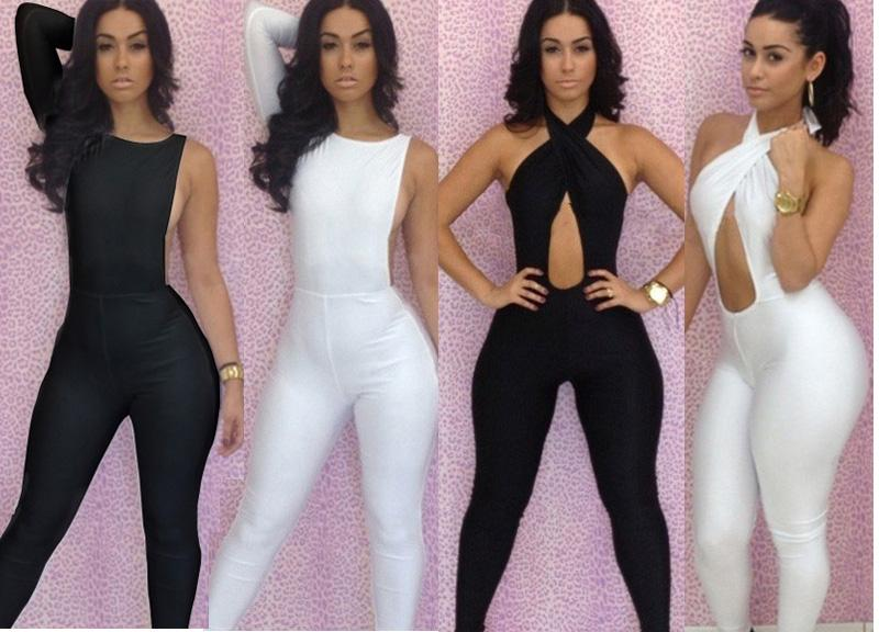 2015 New Fashion Women's Jumpsuits Black Gray Cott