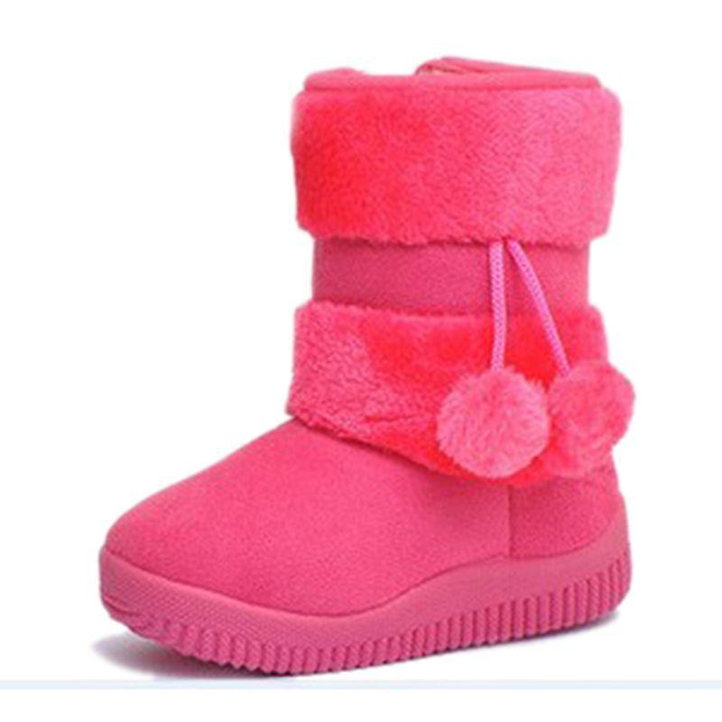 2015 New Child Snow Boots Personality Lobbing Ball Snow Boots Boys ...