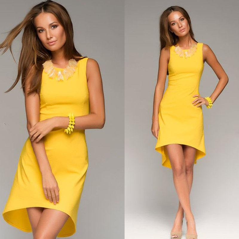 yellow casual dress - Dress Yp