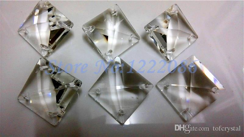 Wholsale 22x22MM Glass Crystal Prisms Square Beads With 4 Holes MC – Glass Prisms for Chandeliers