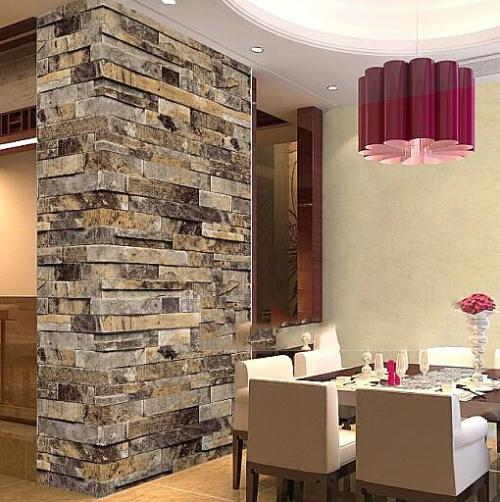 Stone wallpaper roll modern wallpaper brick wall 3d for Papel para forrar paredes cocina
