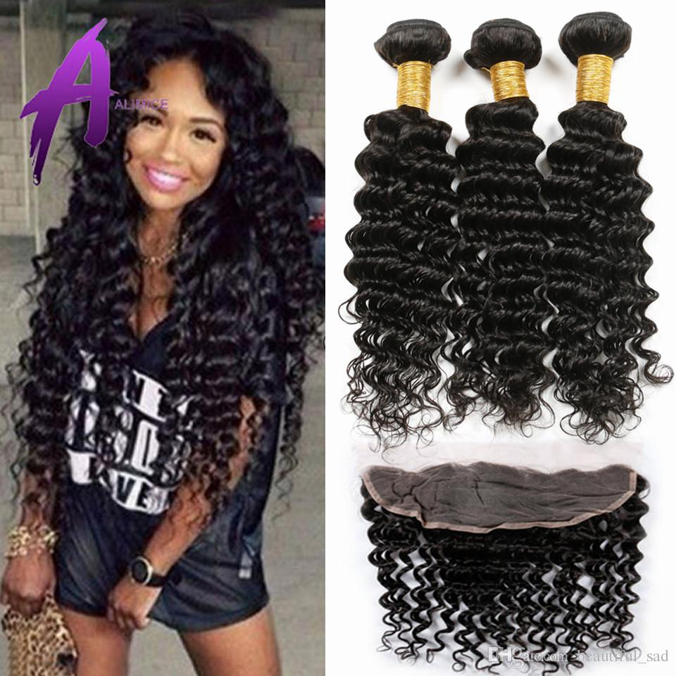Where to buy hair closures - 13 4 Lace Frontal Closure With Bundles Peruvian Deep Wave With Closure Peruvian Deep Wave Lace Frontal And Bundles Synthetic Braiding Hair Beautiful Star