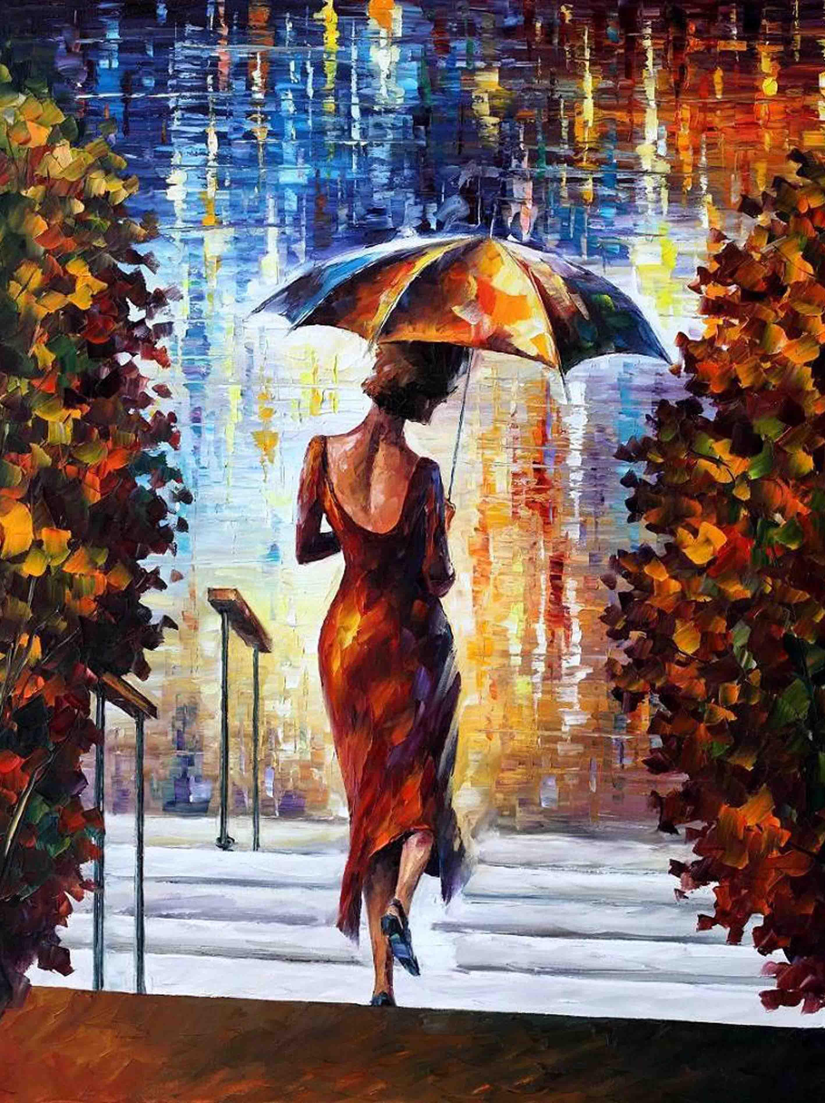 Best at the steps by leonid afremov canvas prints realistic oil