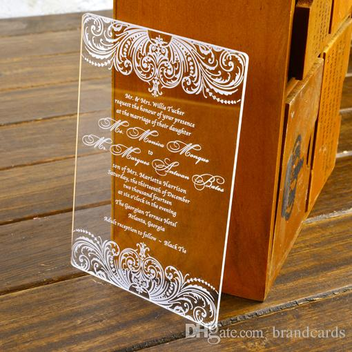 50Free Customized Engraved Damask Wedding Invitation Cards With