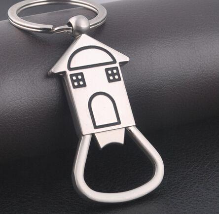 zinc alloy house bottle opener keyring metal opener keychain house shaped key chain key ring. Black Bedroom Furniture Sets. Home Design Ideas