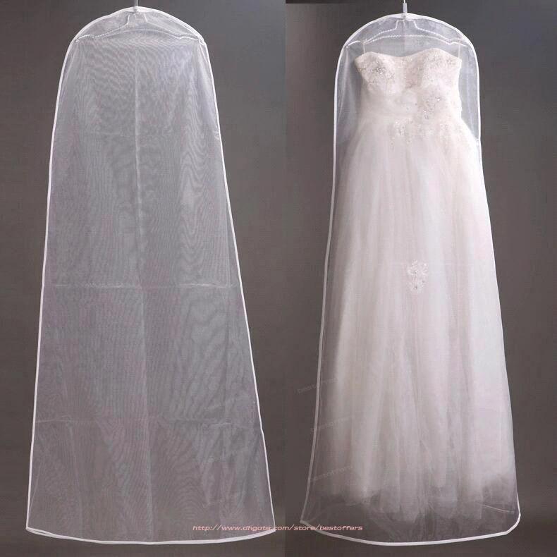 2016 wedding dress bags transparent dust bag travel for Wedding dress travel bag