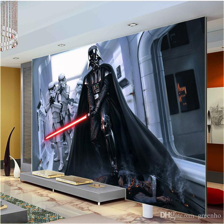 Modern darth vader wall mural star wars photo wallpaper for Chinese movie mural
