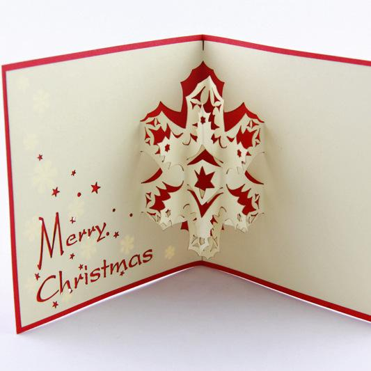 Cube life snowflake christmas 3d stereoscopic three for 3d xmas cards to make