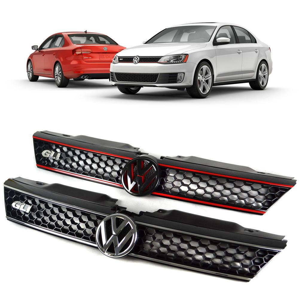 Wholesale Car Parts >> For Volkswagen Vw Jetta & Gli Mk6 Honeycomb Front Grille Grills Car Styling Accessories Car ...