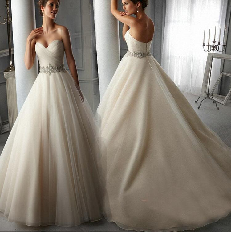 2016 Wedding Dresses Fashion Sexy Slim Bra Large Tail Ball Gowns Wedding Dress Diamond Straps