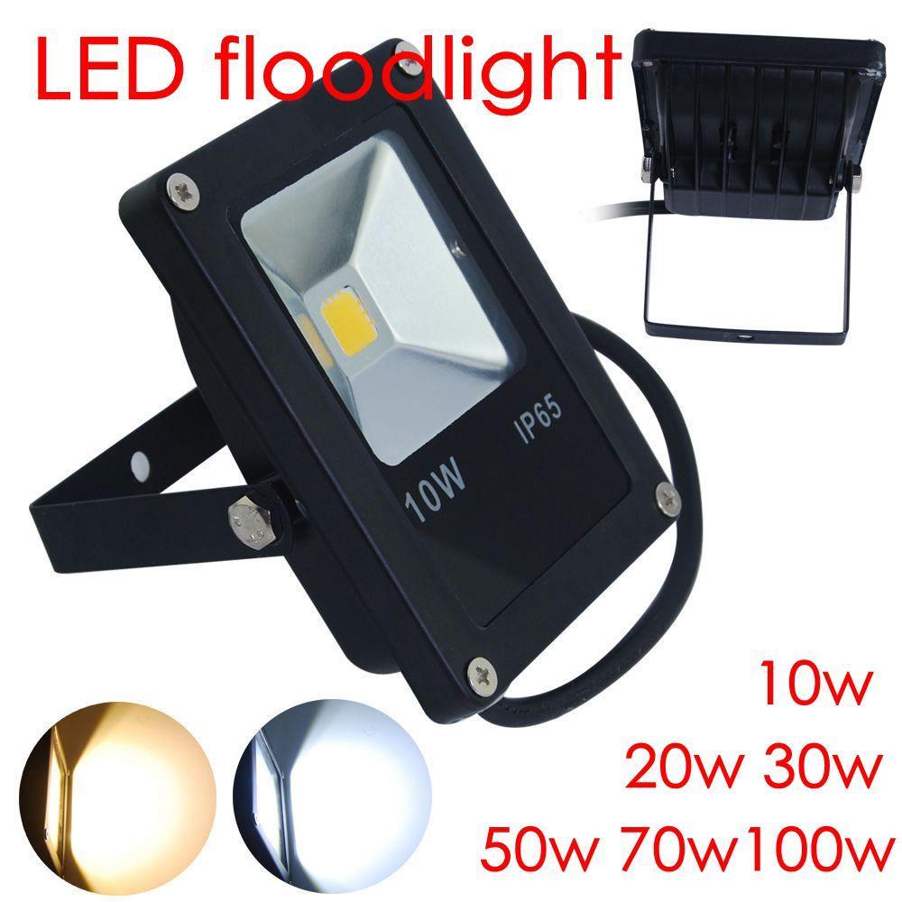 10w 20w 30w 50w 70w100w spot flood led floodlight lighting outdoor spotlight lamp garden light. Black Bedroom Furniture Sets. Home Design Ideas