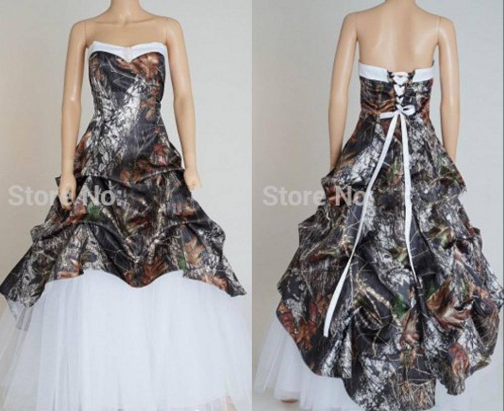 Unique New Style Camo Wedding Dresses Custom Made Modest