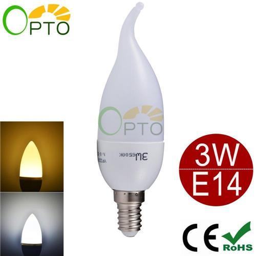 Bougie Ampoule LED E14 E27 B22 E12 3W CREE 2835 SMD Unique Design LED bougie lam