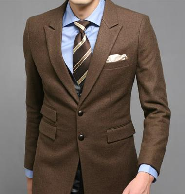 Wedding Suits For Men Dark Brown Custom Made, Bespoke Dark Brown