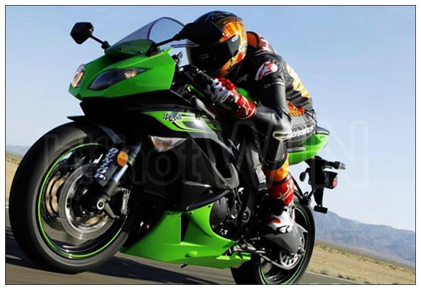 For Kawasaki Zx636 Green Black Fairings Zx6r 09 10 11