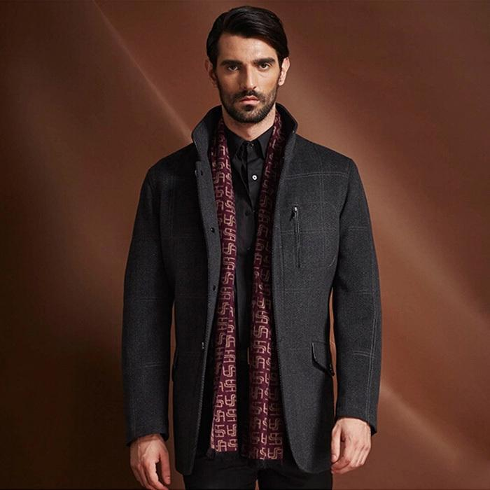 Best Svanch 2015 Wool Jacket Men High Quality Single Breasted