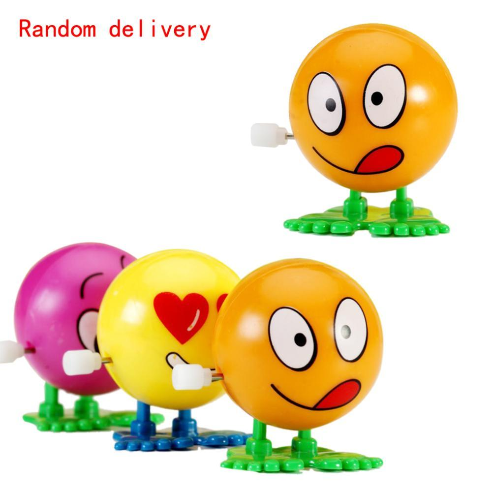 Funny balloon faces - 2016 New Spring Baby Toys Friendly Environmental Materials Colorful Funny Face Somersault Running Clockwork Wind Up Toys