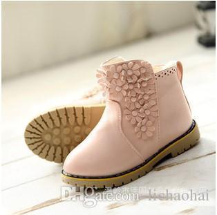 Hot!2015 New Girl Boots Solid Pu Leather Boots Short Boots Baby ...