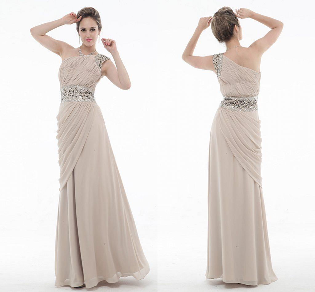 High Quality e Shoulder Prom Dresses Sashs Crystal