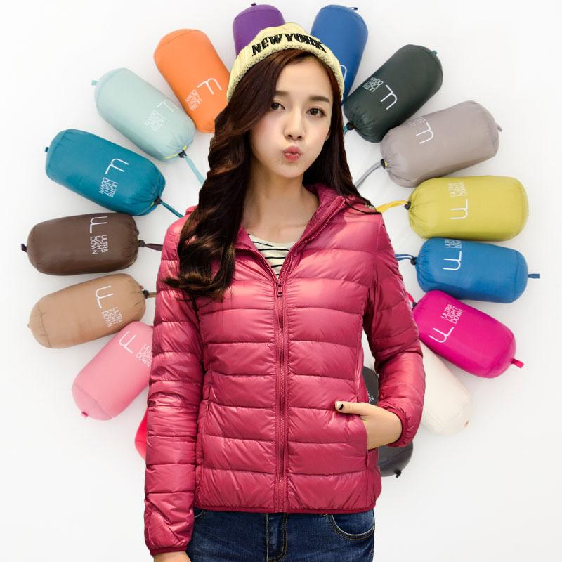 Japan Fashion Brand 2015 New Winter Women Hooded Down Jacket ...