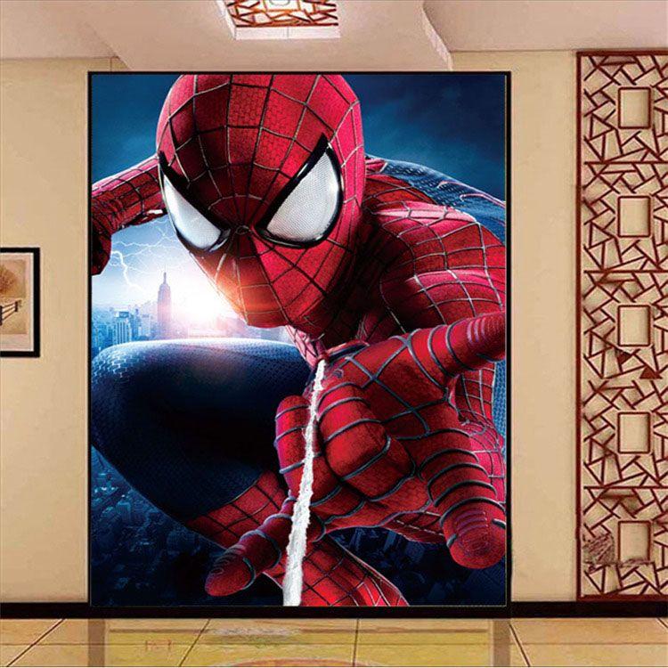 Amazing spider man photo wallpaper superhero wallpaper 3d for X men room decorations