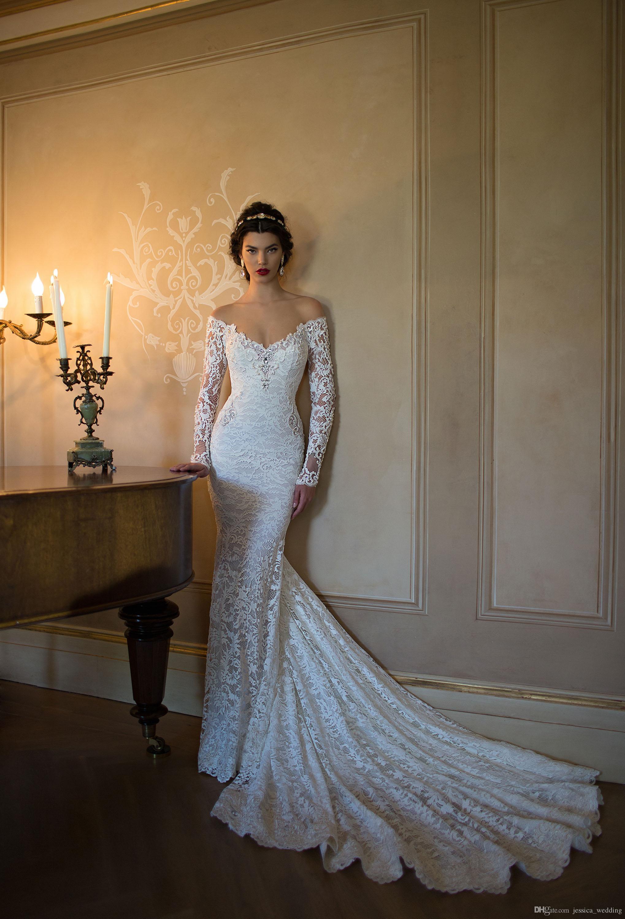 2016 berta wedding dresses sexy off the shoulder long for Jessica designs international wedding dresses