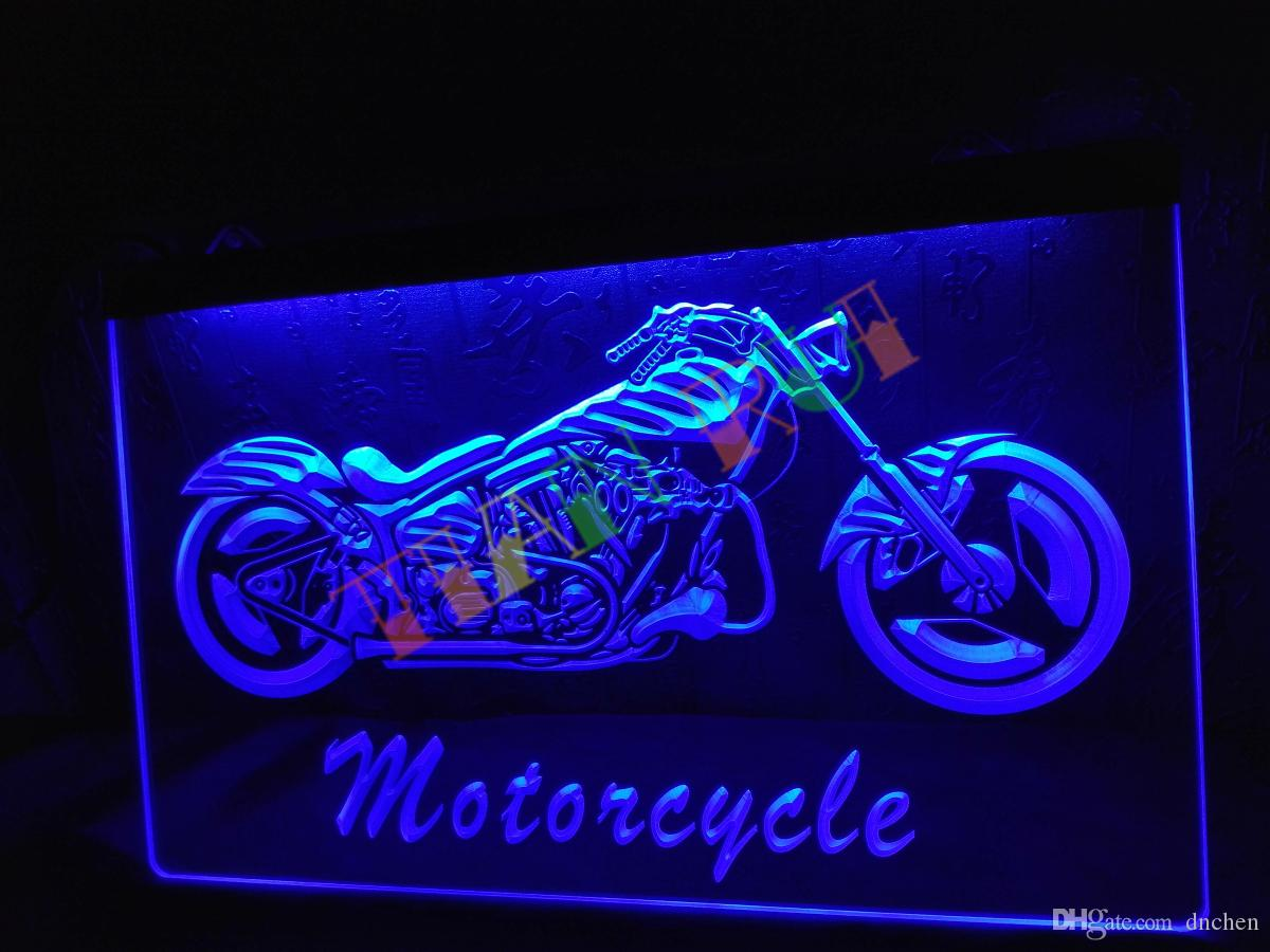 LB642-b Moto Bike Sales Services Neon Light Sign boutique de décoration artisana