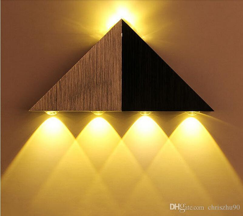 super bright 5w aluminum triangle led wall light lamp modern home lighting indoor outdoor decoration ed bright outdoor lighting