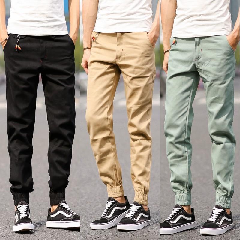 1601 Men Pants Foot Sport Joggers Hip Hop Khaki Pants Trousers ...