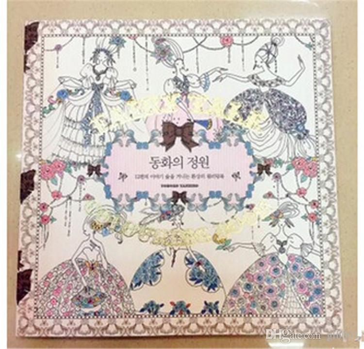 genuine fairy garden painting drawing book decompression artifact secret garden the latest sequel children gifts adult - Children Drawing Books