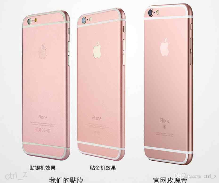 iphone 6 colors rose gold. luxury rose gold sticker full body screen protector color film 2015 newest skin back cover for iphone 6 6s plus pink golden stick colors r