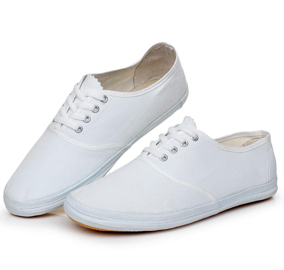 white canvas shoes wholesale non slip rubber soles leisure