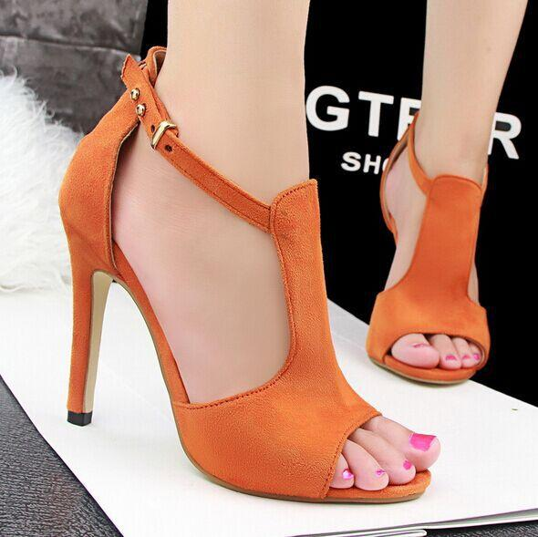 2016 New Women High Heels Sandals Fashion Women Sandals Size 34 39 ...