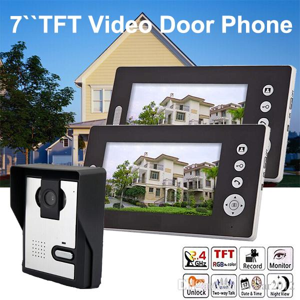 1 V 2 7 Wireless Video Door Phone Intercom Photograph Night Vision ...