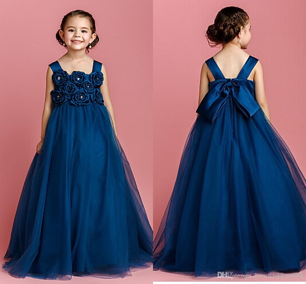 Princess Evening Pageant Dresses Hand Made Flowers Bow
