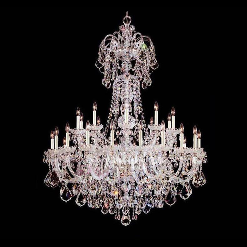 30 lights candle holders chandelier modern large crystal. Black Bedroom Furniture Sets. Home Design Ideas