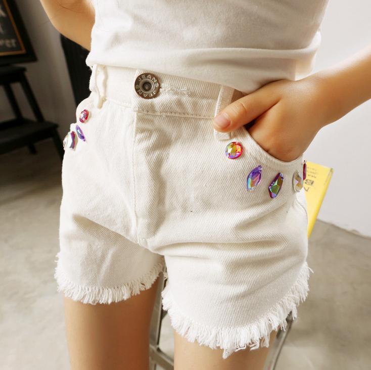 Girls Jeans Shorts 2015 Summer Childern's Clothing Korea Fashion ...