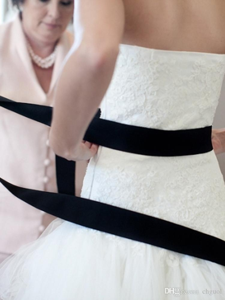 Best Black Grosgrain Ribbon Wedding Dress Sashes Cheap 2015 Simple Belts For Evening Dresses