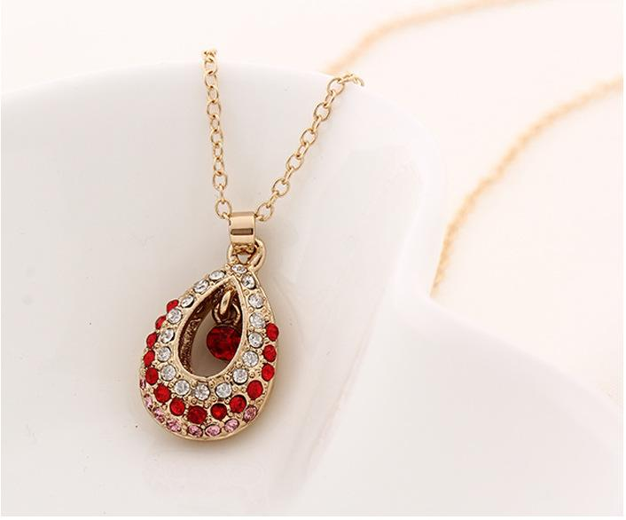 Wholesale Hot Sale Gold Chain Austrian Crystal Jewellry Pendant ...