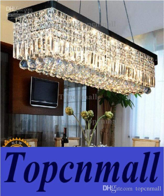 Length 100cm Modern Led Crystal Pendant Light Ceiling Lamp