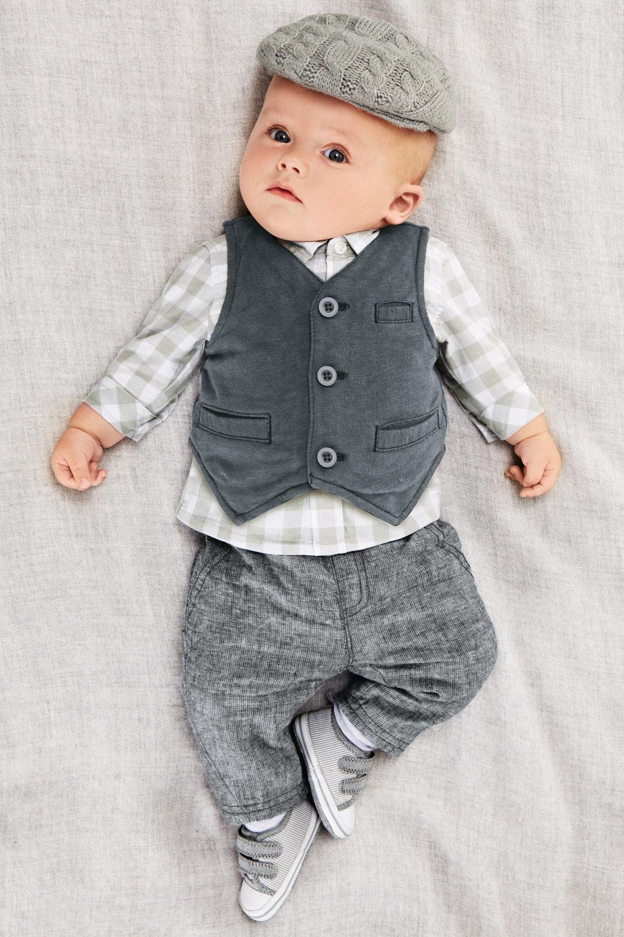 2015 Spring Autumn Baby Boys Outfits Vest Jacket Waistcoat denim ...