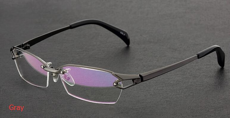 Big Face Titanium Eyeglass Frames Black Or Gray Or Silver ...