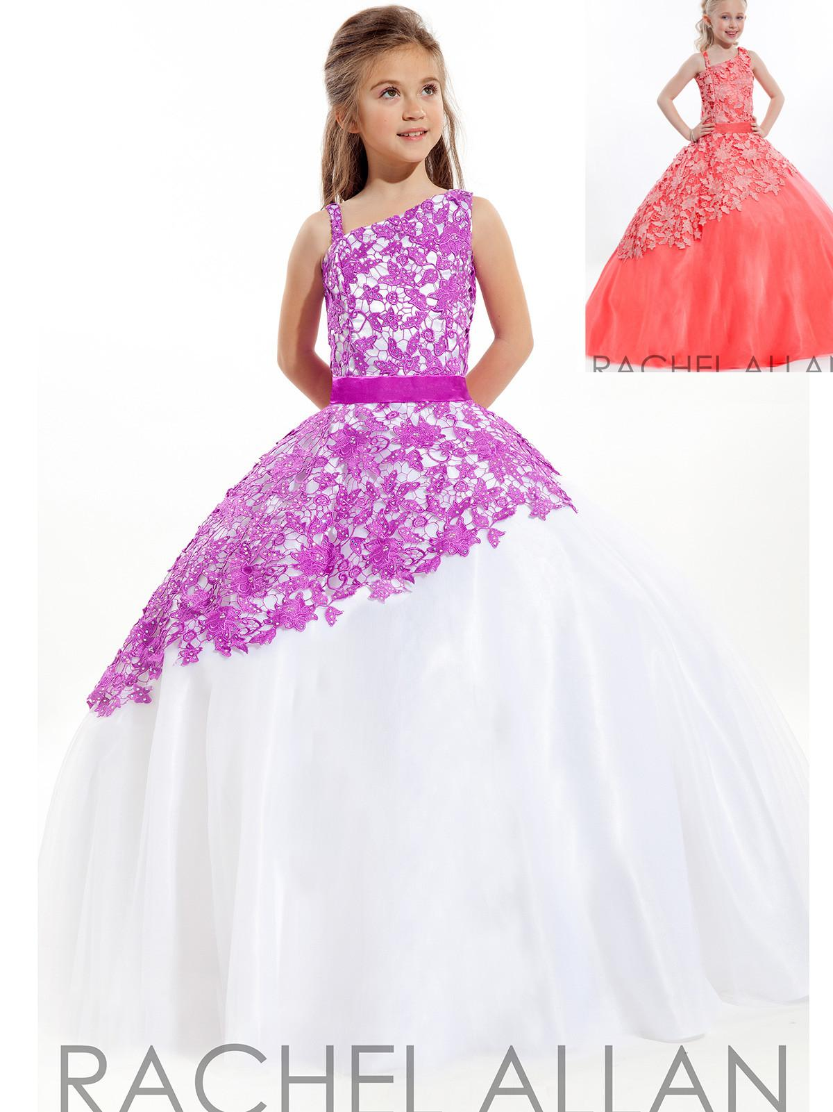 Christmas dresses for kids - New Rachel Allan Ball Gowns Girls Pageant Dresses Beauty Statenational Cheap Flowers Girls Kids Christmas Island