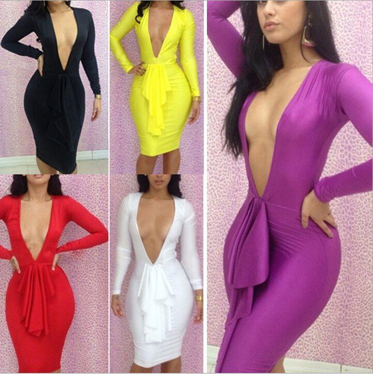 New Arrival Sexy Club Dress 2014 Open front Red/yellow/purple ...
