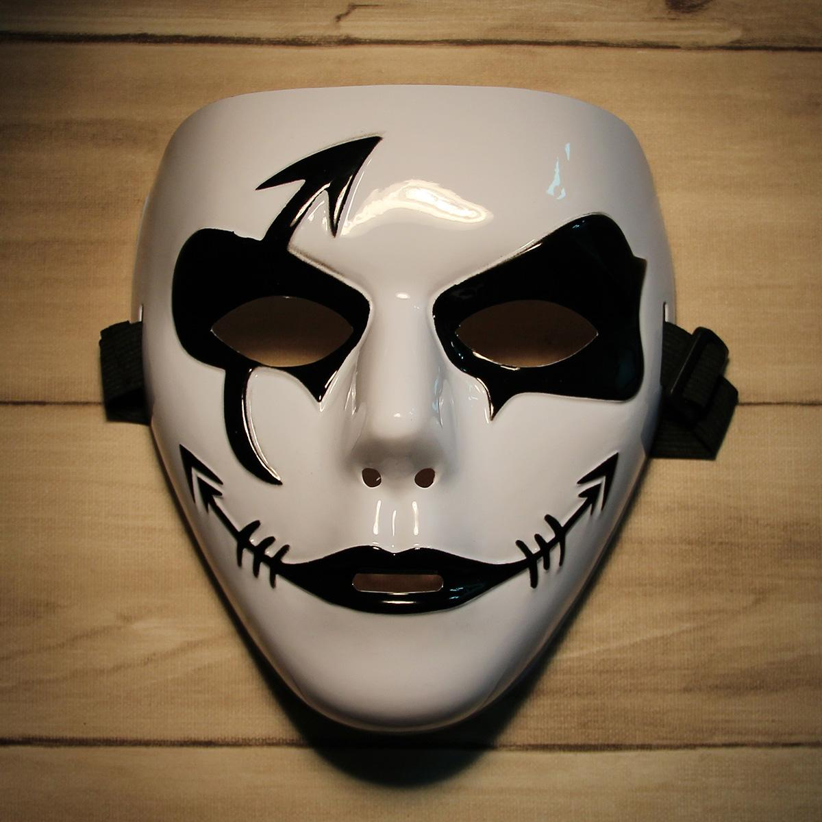 Fashion Hip-hop Style Mask for Halloween Party - Black + White ...