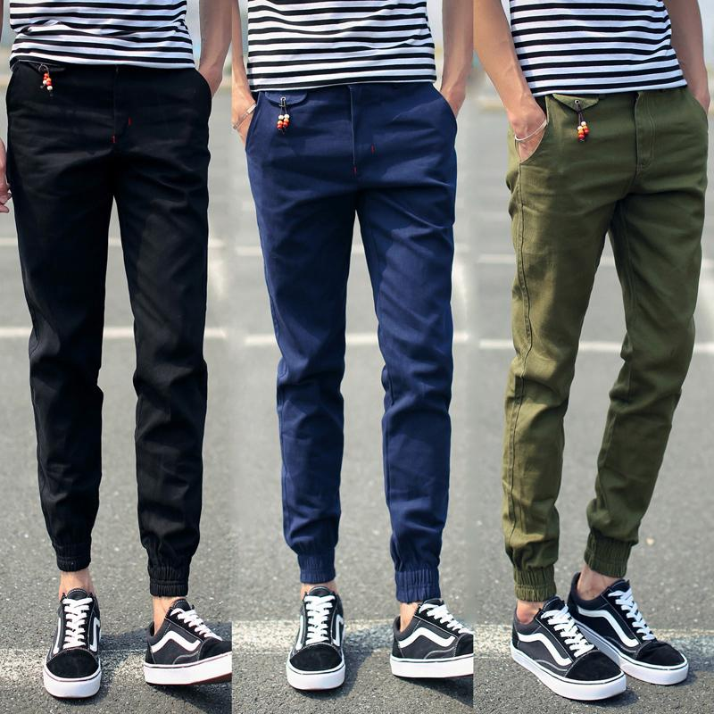 New 2015 Mens Joggers Pants Slim Fit Zipper Pencil Sweatpantsmen ...