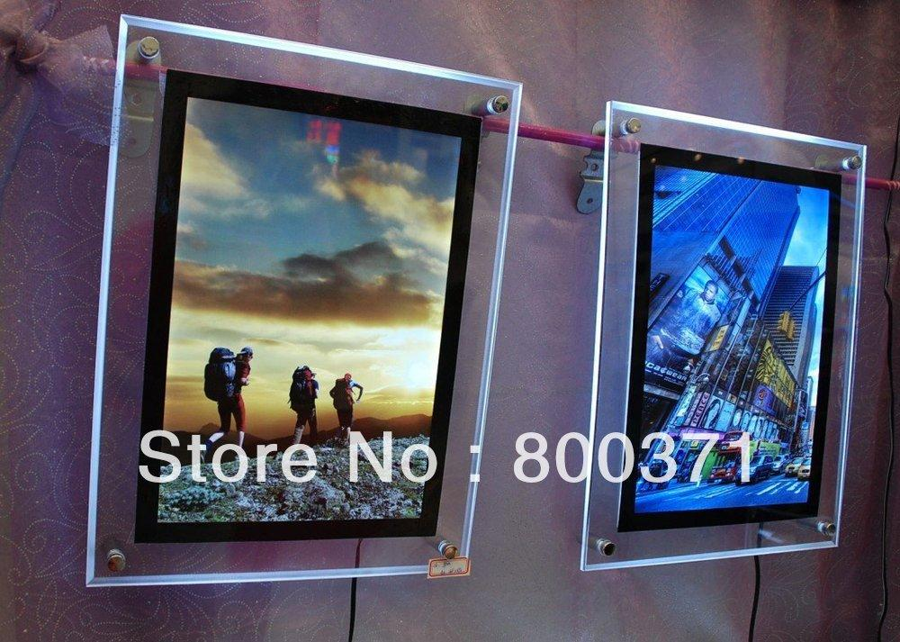 best quality 600mmx900mm crystal led movie poster light. Black Bedroom Furniture Sets. Home Design Ideas