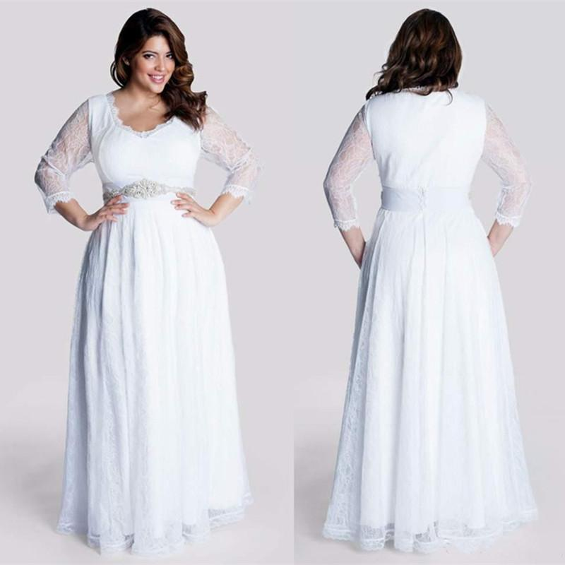 Modest Plus Size Informal Wedding Dresses - Holiday Dresses